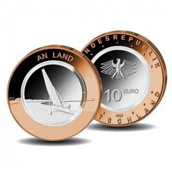 An Land, 10 Euro Münze 2020 mit Polymerring, Bimetall, Stempelglanz, Deutschland