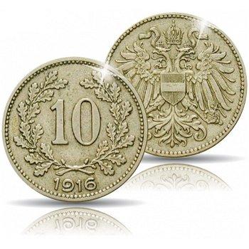 10 Heller Kupfer-Nickel Münze 1916, Kaiserreich Österreich