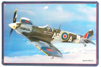 Blechschild: Spitfire MK VB ( 30 x 20 cm )