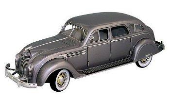 Modellauto:Chrysler Airflow von 1936, silbergrau(Signature Models, 1:18)
