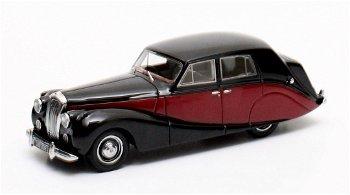 Modellauto:Daimler DB 18 Hooper Empress von 1951, schwarz-marone(Matrix, 1:43)