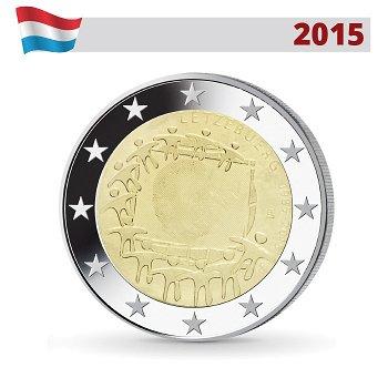 2 Euro Münze 2015, 30 Jahre Europaflagge, Luxemburg