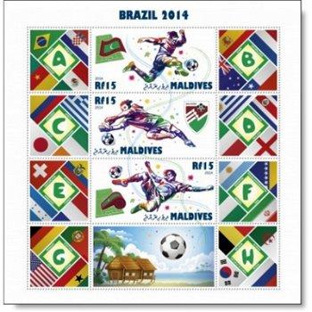 Fußball-Weltmeisterschaft - Briefmarken-Block postfrisch, Malediven