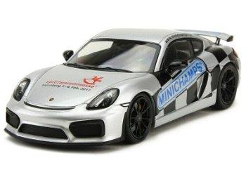 Modellauto:Porsche Cayman GT4Sondermodell Spielwarenmesse 2017(Minichamps, 1:43)