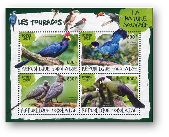 Vögel - Block postfrisch, Togo