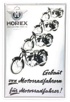 Blechschild: Horex (20 x 30 cm)