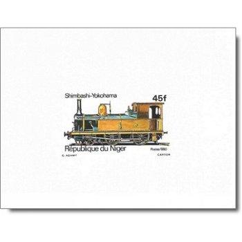 Lokomotiven - 5 Luxusblocks postfrisch, Katalog-Nr. 707-711, Niger