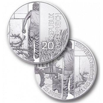 20 Euro Silbermünze: 25 Jahre Fall des Eisernen Vorhangs, Österreich