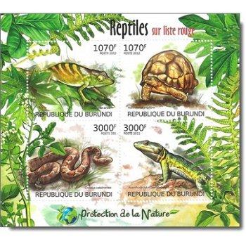 Reptilien - Briefmarken-Block postfrisch, Burundi