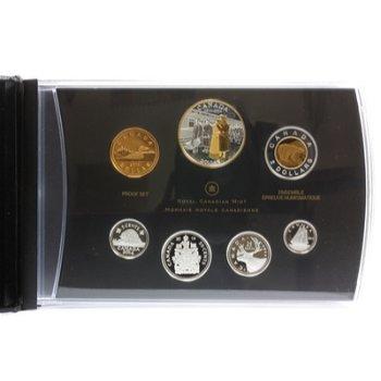 Canada - Kursmünzensatz 2014 mit teilvergoldeter Silbermünze Erster Weltkrieg
