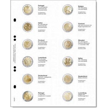 Lindner Vordruckblatt für 2 Euro-Gedenkmünzen: Portugal 2008 - Luxemburg 2010, LI MU2E4