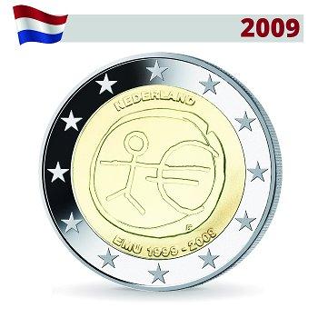 2 Euro Münze 2009, Wirtschafts- und Währungsunion, Niederlande