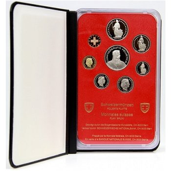 Kursmünzensatz 1996 - Schweiz, Polierte Platte