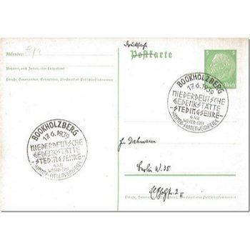 2873 Bookholzberg - postal stationery & quot; Low German memorial Stedingsehre & quot;