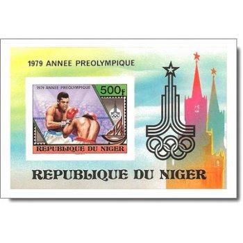 Vorolympisches Jahr - Briefmarken-Block ungezähnt postfrisch, Katalog-Nr. 677 Bl. 24B, Niger