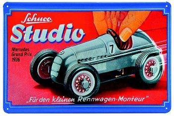 Blechschild:- Mercedes Grand Prix Rennwagen von 1936 - Studio - Edition # 3(Schuco/Classic, 30 x 20