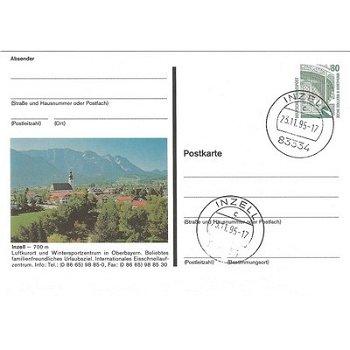 """8221 Inzell - Bildpostkarte """"Ansicht Luftkuhrort"""""""