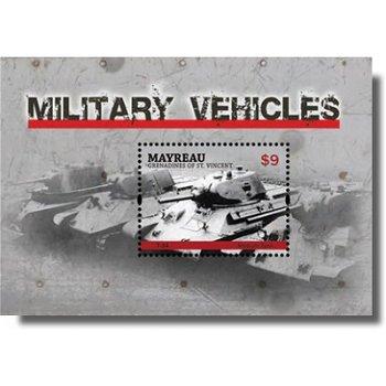 Militärfahrzeuge - Briefmarken-Block postfrisch, St. Vincent & Grenadinen