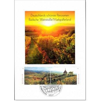 Deutschlands schönste Panoramen - Badische Weinstraße/Markgräflerland - Maximumkarte gestempelt, Deu