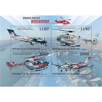 Luftfahrzeuge Erste Hilfe - Briefmarken-Block postfrisch, Katalog-Nr. 2953 - 2956, Burundi