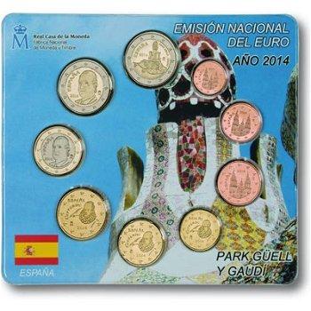 Kursmünzensatz 2014, Park Guell - Spanien