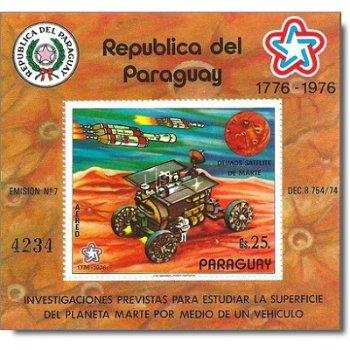 Eroberung des Mars - Briefmarken-Block postfrisch, Katalog-Nr. 2902 Bl. 294, Paraguay