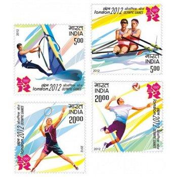 Olympische Sommerspiele 2012 – Briefmarken postfrisch, Katalog-Nr. 2658-2661, Indien