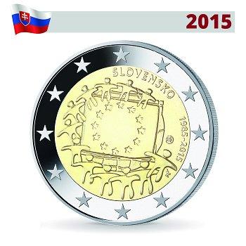 2 Euro Münze 2015, 30 Jahre Europaflagge, Slowakei