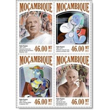 Pablo Picasso - 4 Briefmarken postfrisch, Katalog-Nr. 6872 - 6875, Mocambique