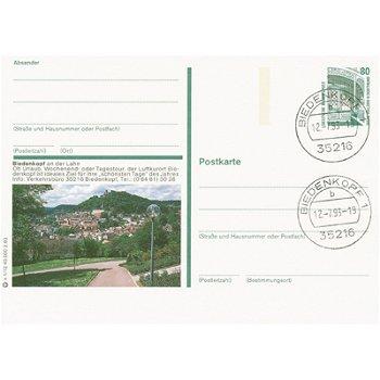 """3560 Biedenkopf - Bildpostkarte frankiert mi der Briefmarke """"Bavaria München"""""""