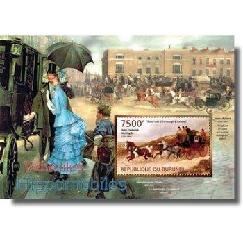 Pferdekutschen - Briefmarken-Block postfrisch, Burundi