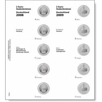 Lindner Vordruckblatt 2008/09 für 2-Euro-Münzen Serie Deutsche Bundesländer, LI 1505-2