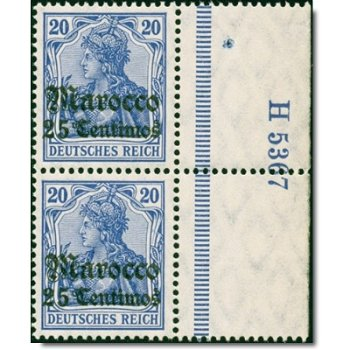 Deutsche Post Morocco - Catalog No. 37a HNA U H 5367, vertical pair, mint never hinged