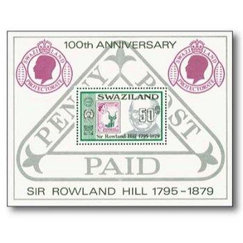 100. Geburtstag Sir Rowland Hill - Briefmarken-Block postfrisch, Swaziland