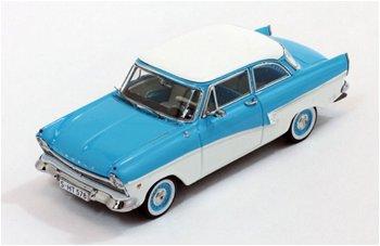 Modellauto:Ford Taunus 17 M von 1957, blau-weiß(Premium X, 1:43)