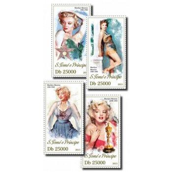 Marilyn Monroe - 4 Briefmarken postfrisch, St. Thomas