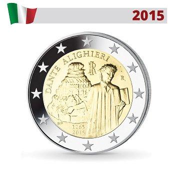 750. Geburtstag von Dante Alighieri, 2 Euro Münze 2015, Italien