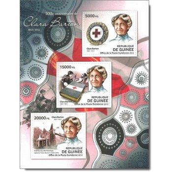 """100 Jahre Clara Barton """"Rotes Kreuz"""" - Briefmarken-Block postfrisch, Guinea"""