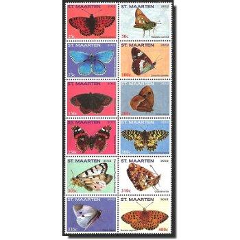 Schmetterlinge - Briefmarken postfrisch, Sint Maarten