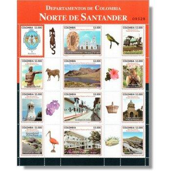 Nord Santander Bezirk - Kleinbogen postfrisch, Kolumbien