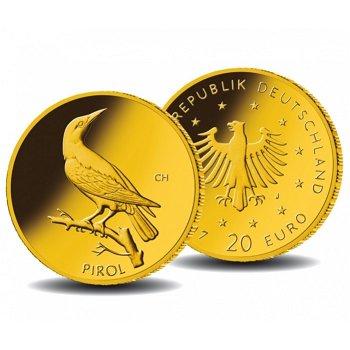 Heimische Vögel: Der Pirol, 20 Euro Goldmünze 2017, Deutschland