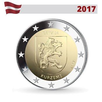 Regionen Lettlands: Kurland Region, 2 Euro Münze 2017, Lettland