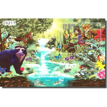 Biodiversität - Briefmarken-Block, Kolumbien