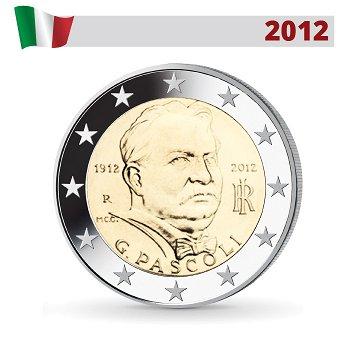 100. Todestag Giovanni Pascoli, 2 Euro Münze 2012, Italien