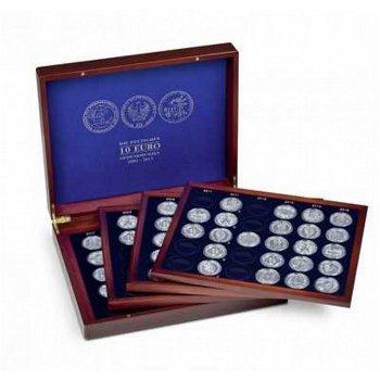 Münzkassette VOLTERRA QUATTRO für 104 dt. 10-Euro-Gedenkmünzen in Kapseln, Leuchtturm 349906