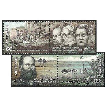 Erforschung des Landesinneren – Briefmarken postfrisch, Katalog-Nr. 3765-3768, Australien