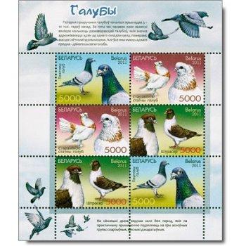 Tauben - Briefmarken-Kleinbogen postfrisch, Weißrussland