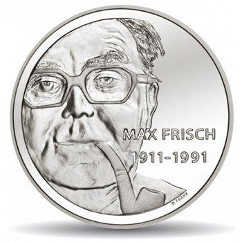 100. Geburtstag von Max Frisch, 20 Franken Münze 2011 Schweiz, Polierte Platte
