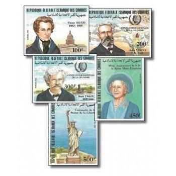 Internationales Jahr der Jugend – Briefmarken postfrisch, ungezähnt, Katalog-Nr. 737-741, Komoren
