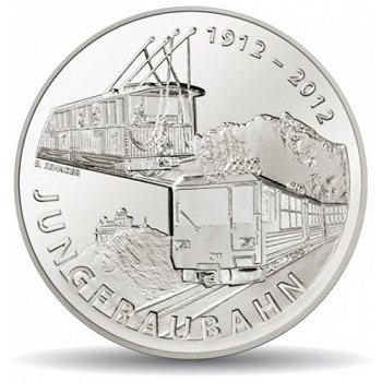 100 Jahre Jungfraubahn, 20 Franken Münze 2012 Schweiz, Polierte Platte
